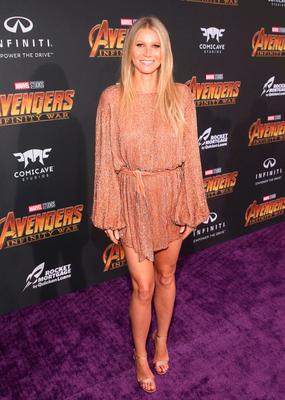 Gwyneth Paltrow attends the Los Angeles Global Premiere for Marvel Studios Avengers: Infinity War on April 23, 2018 in Hollywood, California.  (Photo by Jesse Grant/Getty Images for Disney)