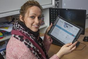13/3/20 Principal Jacqui McCusker, 4th, 5th and 6th class teacher, busy preparing class work for students that they use via the internet while they are at home due to Covid-19 closures at their school in Faughart, Co Louth. Picture: Arthur Carron.