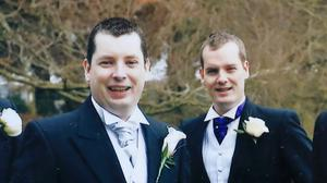 Brothers Fergus and Philip Brophy from Lough near Portarlington Co Laois, who both lost their lives in a scuba diving accident at the Portroe Dive Centre in Portroe quarry outside Nenagh Co Tipperary . Photo: Frank McGrath