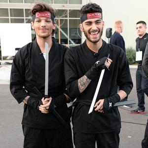 Louis Tomlinson (L) and Zayn Malik in 2013
