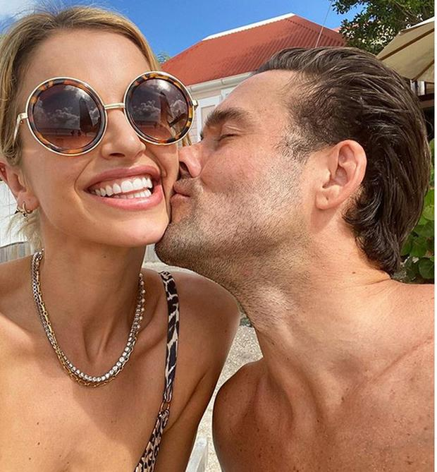 Vogue Williams is on holiday with husband Spencer Matthews in St Barth's. Picture: Instagram