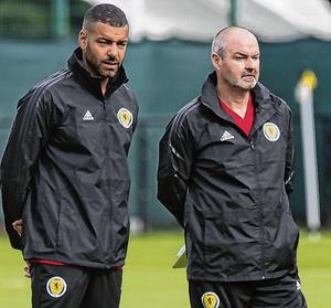 Steven Reid in his current role with Steve Clarke with Scotland. Photo: Paul Devlin/SNS Group via Getty Images