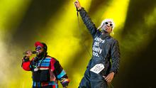 US hip hop duo Outkast perform on stage during the Oya music festival 2014 in Oslo on August 7, 2014.   AFP PHOTO / SCNAPIX NORWAY / AUDUN BRAASTAD   +++NORWAY OUT+++        (Photo credit should read Braastad, Audun/AFP/Getty Images)