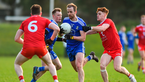 Monaghan's Conor Boyle in action against Conor Meyler of Tyrone. Photo by Oliver McVeigh/Sportsfile