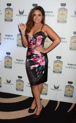 Nadia Forde at the Disaronno wears Versace event The Wright Venue last night