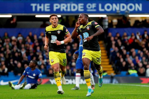 SUPER SAINTS: Michael Obafemi. Photo: Action Images via Reuters