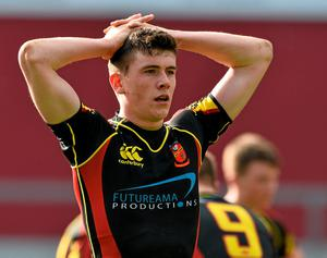 A dejected Nathan Randles, Ardscoil Ris, at the end of the game