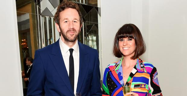 Chris O'Dowd (L) and Dawn O'Porter attend the WilliamVintage private dinner in partnership with American Express at Claridge's Hotel on September 21, 2015 in London, England. (Photo by David M. Benett/Dave Benett/WireImage)