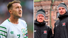 Aiden McGeady and former Dundalk duo Daryl Horgan and Andy Boyle