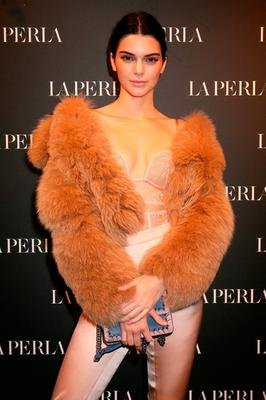 Kendall Jenner attends La Perla MFW Collection's Presentation and Milan Store Opening during Milan Fashion Week Fall/Winter 2017/18 on February 23, 2017 in Milan, Italy.  (Photo by Elisabetta Villa/Getty Images for La Perla)
