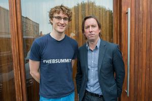 From Left: Paddy Cosgrave, co-founder Web Summit and Adrian Weckler, technology editor INM Photo: Doug O'Connor