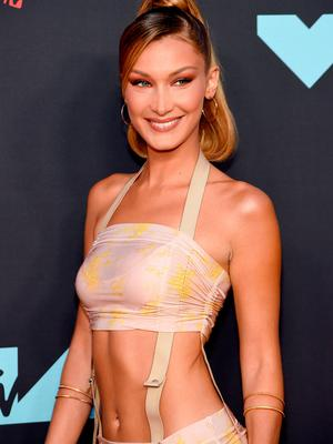 Bella Hadid attends the 2019 MTV Video Music Awards at Prudential Center on August 26, 2019 in Newark, New Jersey. (Photo by Jamie McCarthy/Getty Images for MTV)