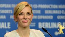 """Cate Blanchett attends a press conference for the film """"Cinderella""""  AFP PHOTO / JOHN MACDOUGALLJOHN MACDOUGALL/AFP/Getty Images"""