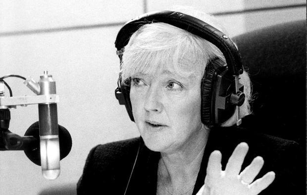 Ground-breaking: Marian Finucane in her element, the radio studio from where she helped to change attitudes