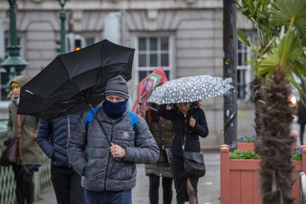 Get the brollies ready for a wet weekend, says Met Eireann. Photo: Douglas O'Connor
