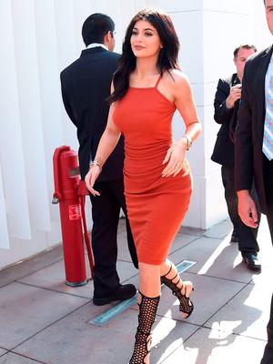 Kylie Jenner arrives at the New Kendall + Kylie Fashion Line Laucnh Party At TopShop at TopShop on June 3, 2015 in Los Angeles, California.  (Photo by Jason Merritt/Getty Images)