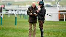 Willie Mullins and Ruby Walsh discuss tactics ahead of their big assault on Cheltenham. Photo: Matt Browne / SPORTSFILE
