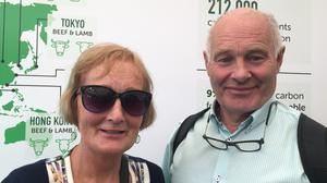 Jack Frisby and his wife Mairead.