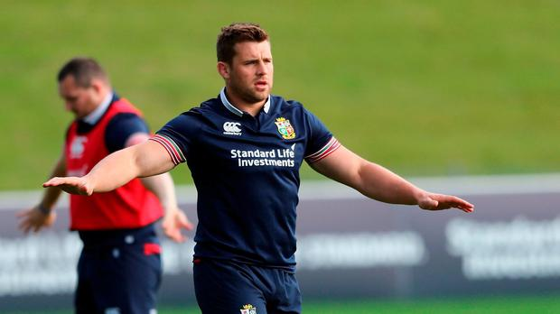 CJ Stander looks on during the British & Irish Lions training session held at the QBE Stadium on June 5, 2017 in Auckland, New Zealand. (Photo by David Rogers/Getty Images)