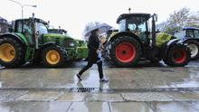 Fresh disruption on way: Farmers protesting in Dublin last November. Photo: Gerry Mooney