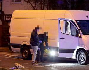6/3/2019, Garda gather evidence at the scene of a shooting in Blakestown Road, Dublin 15. Picture credit; Damien Eagers / INM