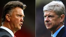 Louis van Gaal's Manchester United take on Arsene Wenger's Arsenal this evening at the Emirates Stadium with this being the first time in 16 years the two clubs have met each other with both being outside the top four of the Premier League. Matthew Lewis/Getty Images