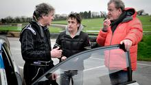 James May, Richard Hammond, Jeremy Clarkson during filming for Top Gear (Ellis O'Brien/BBC Worldwide Limited/PA Wire)
