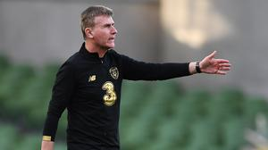 Stephen Kenny has a big early test as Ireland manager in the European playoff against Slovakia on Thursday week. Photo by Stephen McCarthy/Sportsfile