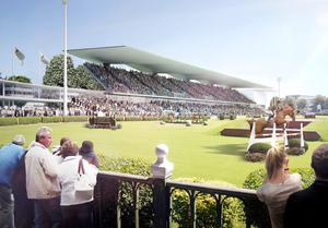 Undated handout artist impression of  the redeveloped RDS Arena during the Dublin Horse Show
