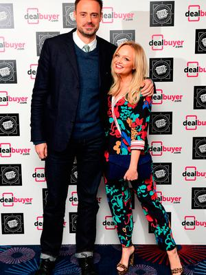 Jamie Theakston and Emma Bunton attending the 2017 Television and Radio Industries Club Awards, Grosvenor House, Park Lane, London.
