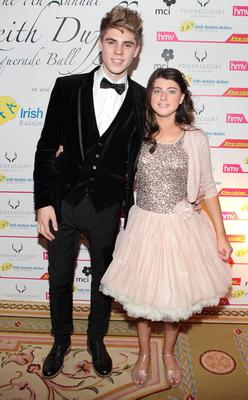Jay Duffy and Mia Duffy pictured at Keith Duffy's Masquerade Ball Picture:Brian McEvoy