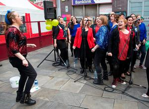 The Line Up  Group preform in Temple Bar on Culture Night 2015 and comprises with hundreds of events across Ireland and overseas.  Picture by Fergal Phillips