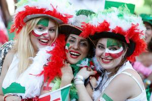 """Iran footballers have been threatened with punishment for posing for """"selfies"""" with female fans who have flocked to see them play in Australia (REUTERS/Brandon Malone)"""