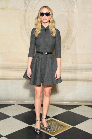 Jennifer Lawrence attends the Christian Dior show as part of the Paris Fashion Week Womenswear Fall/Winter 2019/2020 on February 26, 2019 in Paris, France. (Photo by Pascal Le Segretain/Getty Images)