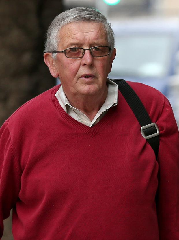 Former charity director Greg Walsh (70) arrives at the Dublin Circuit Criminal Court t Pic Collins Courts.