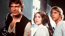 Carrie Fisher, Mark Hamill, Harrison Ford in the original Star War's movie