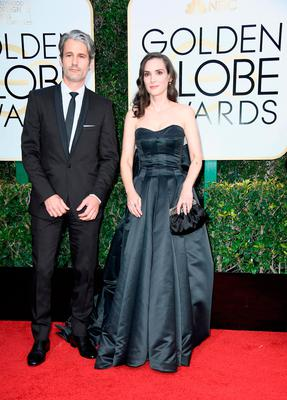 Actress Winona Ryder (R) and Scott Mackinlay Hahn attend the 74th Annual Golden Globe Awards at The Beverly Hilton Hotel on January 8, 2017 in Beverly Hills, California.  (Photo by Frazer Harrison/Getty Images)