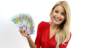 Kerri-Nicole Blanc in an ad for the National Lottery
