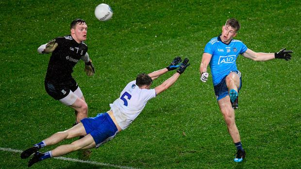 TOP FORM: Seán Bugler in action for Dublin against Monaghan during the Allianz Football League Division 1 match at Croke Park. Photo: Stephen McCarthy/Sportsfile