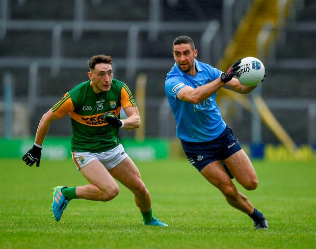 James McCarthy of Dublin in action against Paudie Clifford of Kerry at Semple Stadium in Thurles, Tipperary. Photo: Ray McManus/Sportsfile