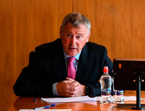 FAI Interim Chief Executive Gary Owens during the Board press conference in Abbotstown