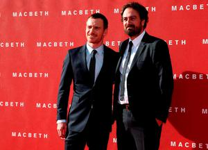 "Actor Michael Fassbender and director Justin Kurzel arrive for the British premiere of ""Macbeth"" at the Edinburgh Festival Theatre in Edinburgh, Scotland REUTERS/Russell Cheyne"