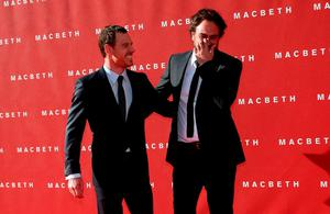 "Actor Michael Fassbender and director Justin Kurzel arrive for the British premiere of ""Macbeth"" at the Edinburgh Festival Theatre in Edinburgh Credit REUTERS/Russell Cheyne"
