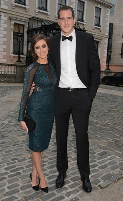 Mary Scott and Devin Toner at the Leinster Rugby Awards Ball 2014 at The Mansion House