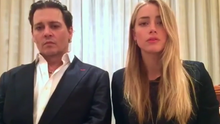 Johnny Depp and Amber Heard issue an apology to the Australian government after failing to declare their dogs at customs in 2015. Photo: Australian Government Department of Agriculture and Water Resources
