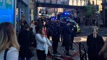 Emergency services attending an incident at Parsons Green station in west London amid reports of an explosion. James Treen/PA Wire