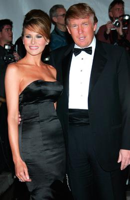 Donald and Melania Trump attend the MET Costume Institute Gala Celebrating Chanel at the Metropolitan Museum of Art May 2, 2005 In New York City.  (Photo by Evan Agostini/Getty Images)