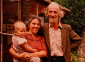 Hugh with Alma and one of their six children