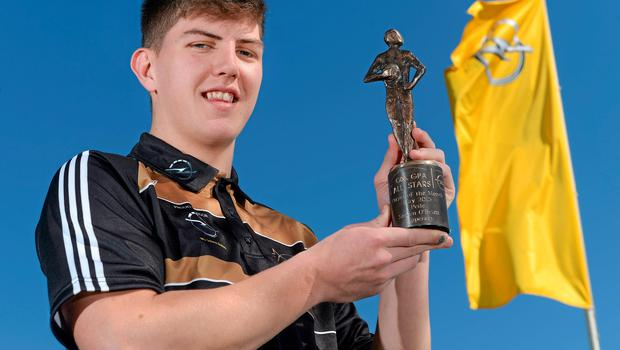 Tipperary's Steven O'Brien with his GAA/GPA Player of the Month award for May, sponsored by Opel