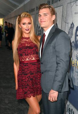 "Paris Hilton and Chris Zylka attend the premiere of HBO's ""The Leftovers"" Season 3 at Avalon Hollywood on April 4, 2017 in Los Angeles, California.  (Photo by Kevin Winter/Getty Images)"